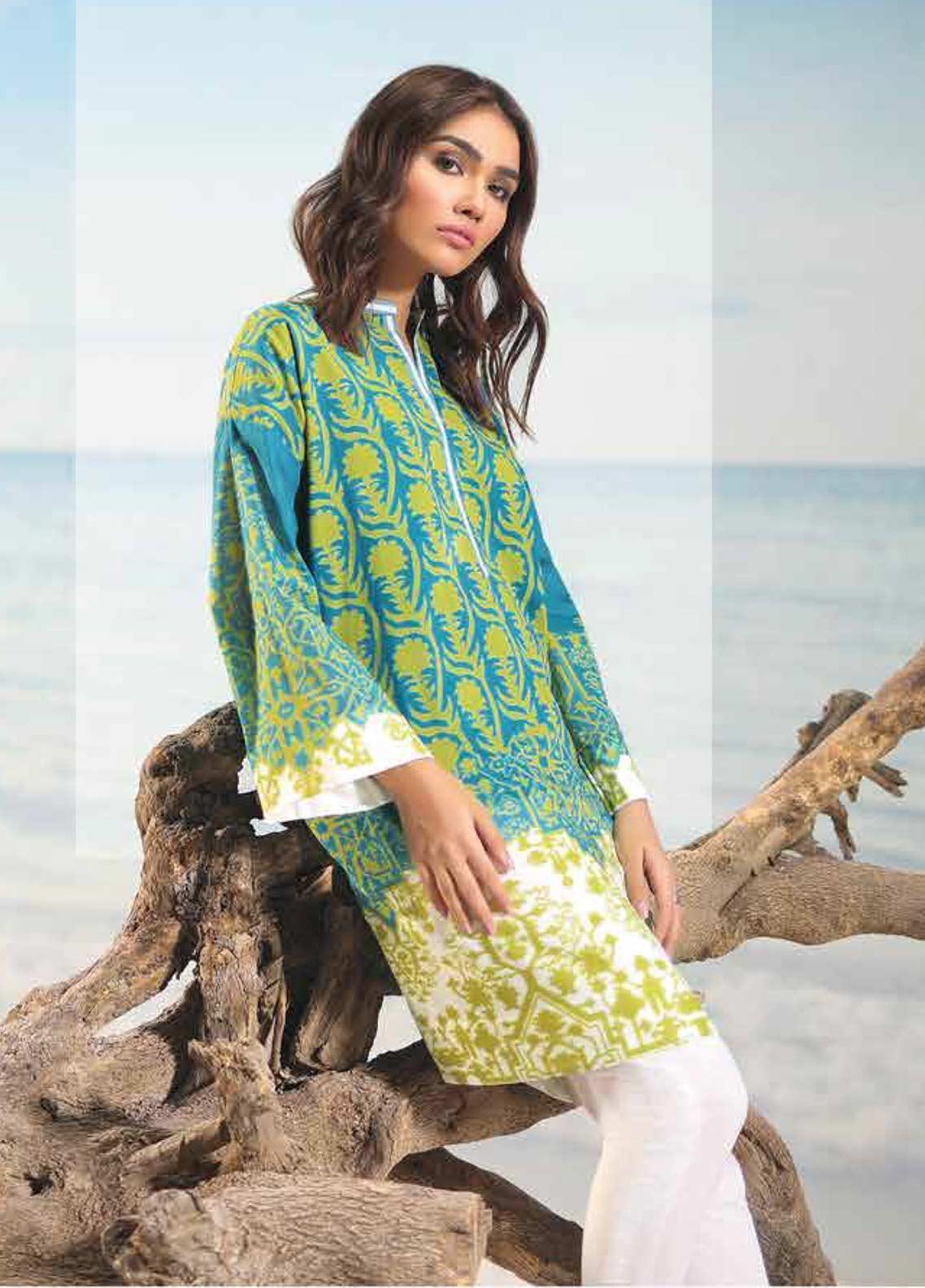 Al Karam Printed Lawn Unstitched 2 Piece Suit AK19-L2 14