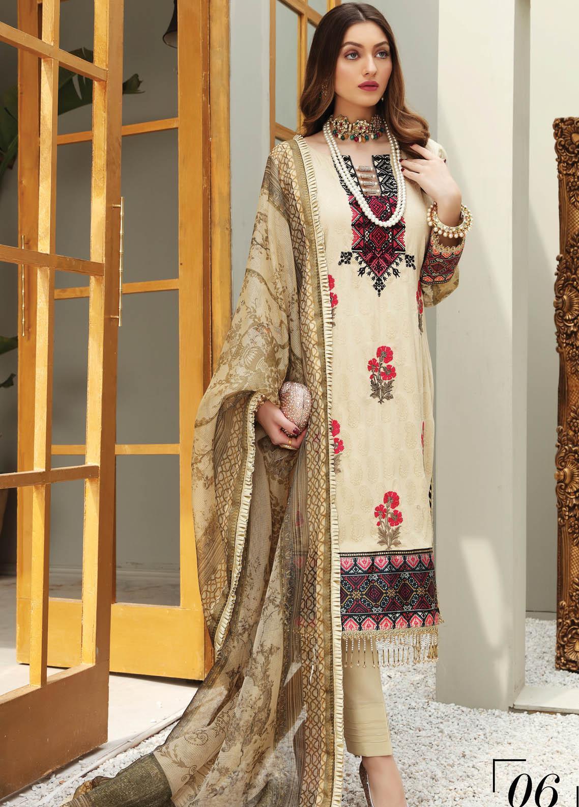 Festive Hues By Al Zohaib Embroidered Jacquard Suits Unstitched 3 Piece AZ21FH 06 - Festive Collection