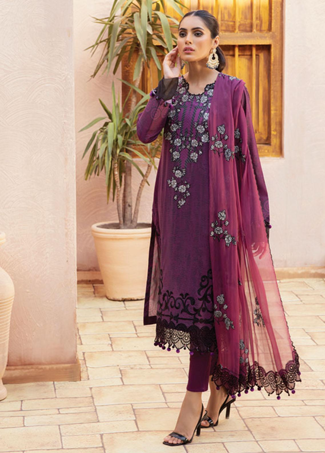 Festive Hues By Al Zohaib Embroidered Lawn Suits Unstitched 3 Piece AZ21-FH2 04B - Summer Collection