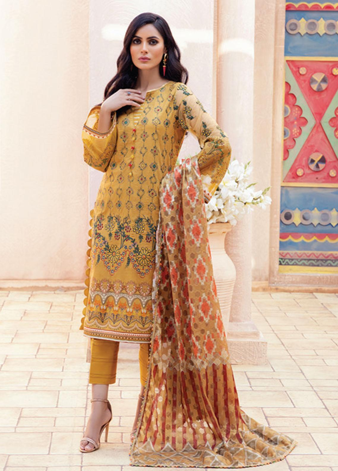 Festive Hues By Al Zohaib Embroidered Lawn Suits Unstitched 3 Piece AZ21-FH2 05 - Summer Collection