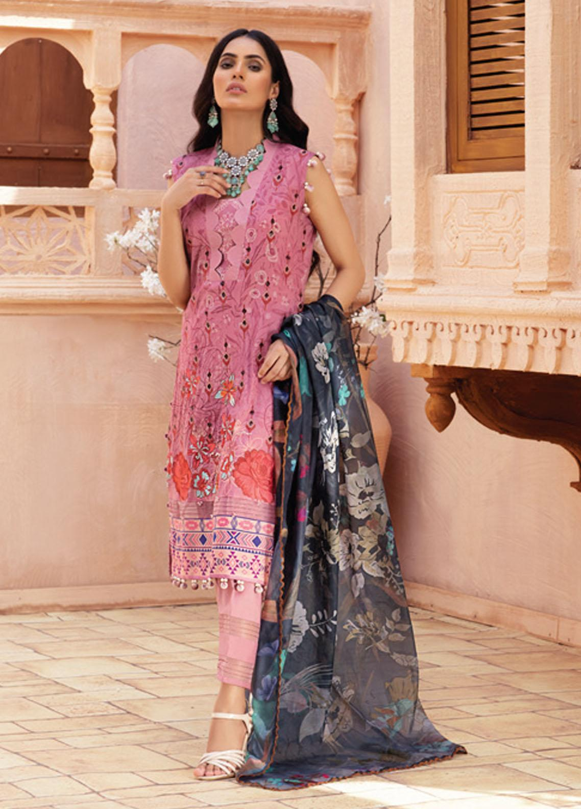 Festive Hues By Al Zohaib Embroidered Lawn Suits Unstitched 3 Piece AZ21-FH2 11 - Summer Collection