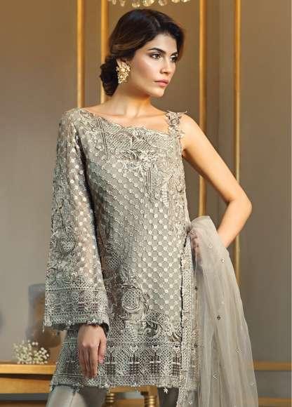 Anaya By Kiran Chaudhry Embroidered Chiffon Unstitched 3 Piece Suit AL17E2 03