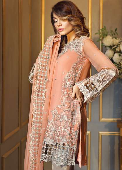 Anaya By Kiran Chaudhry Embroidered Chiffon Unstitched 3 Piece Suit AL17E2 05
