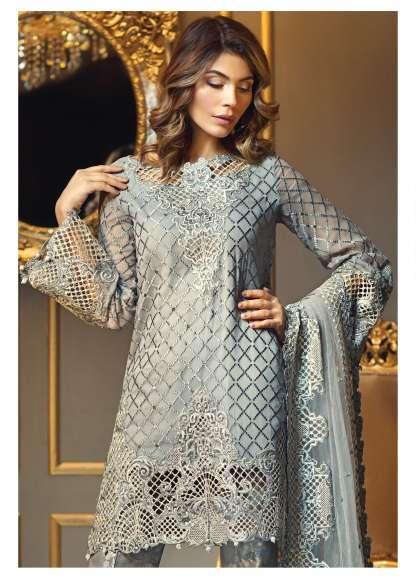 Anaya By Kiran Chaudhry Embroidered Chiffon Unstitched 3 Piece Suit AL17E2 06
