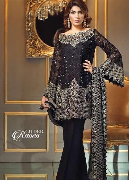 Anaya By Kiran Chaudhry Embroidered Chiffon Unstitched 3 Piece Suit AL17E2 08