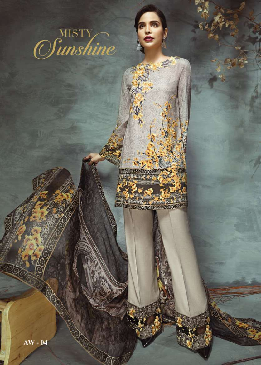 Anaya by Kiran Chaudhry Embroidered Linen Unstitched 3 Piece Suit AL17W 04