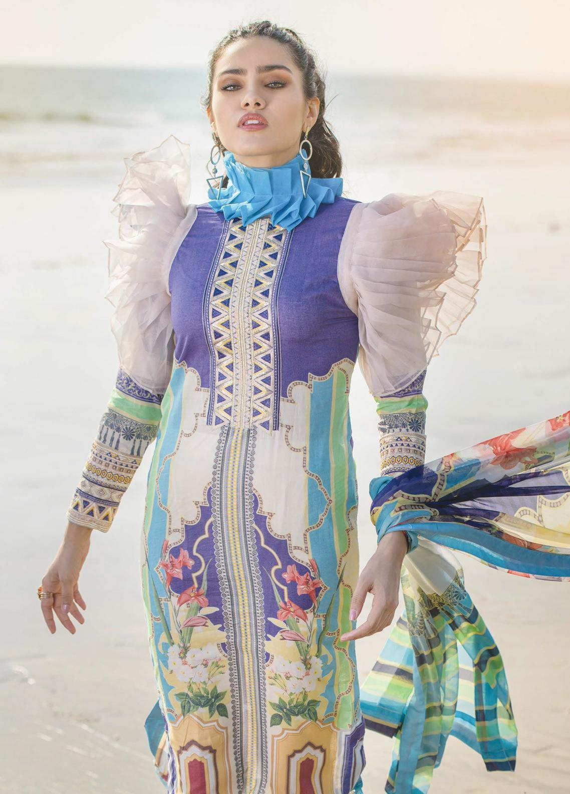 Allure by Mystique Embroidered Lawn Unstitched 3 Piece Suit MYS20A 08 - Spring / Summer Collection