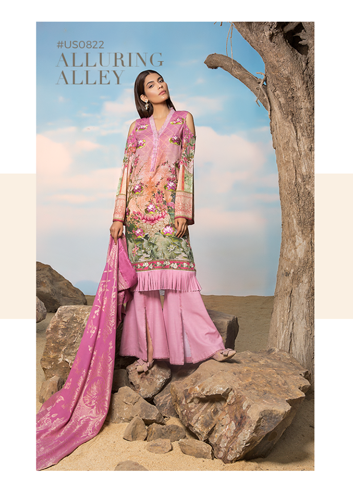 Sapphire Embroidered Khaddar Unstitched 3 Piece Suit SP17W Alluring Alley