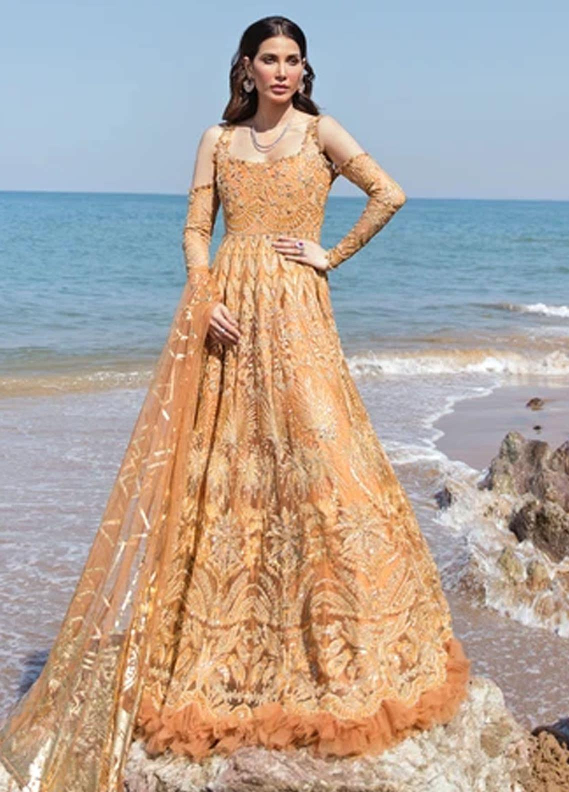 Amiraa by Reign Embroidered Net Suits Unstitched 3 Piece RGN21AM RN-03 ZENDAYA-A - Luxury Collection