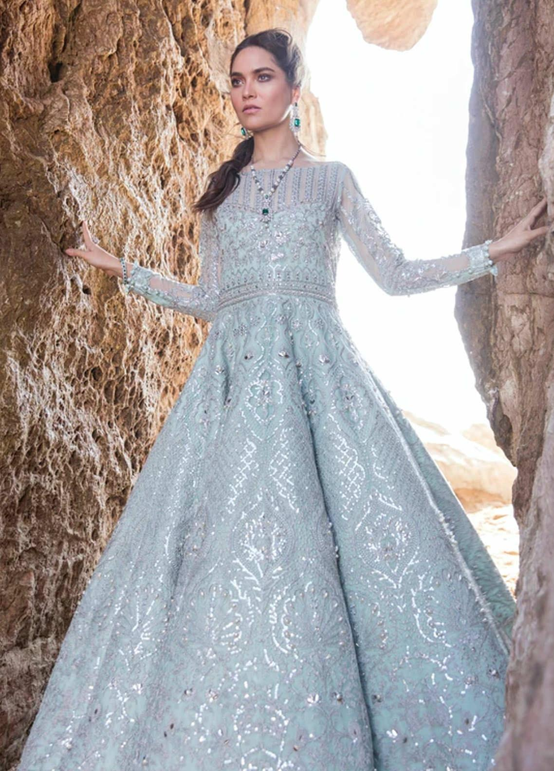 Amiraa by Reign Embroidered Net Suits Unstitched 3 Piece RGN21AM RN-07 MARTHA-A - Luxury Collection