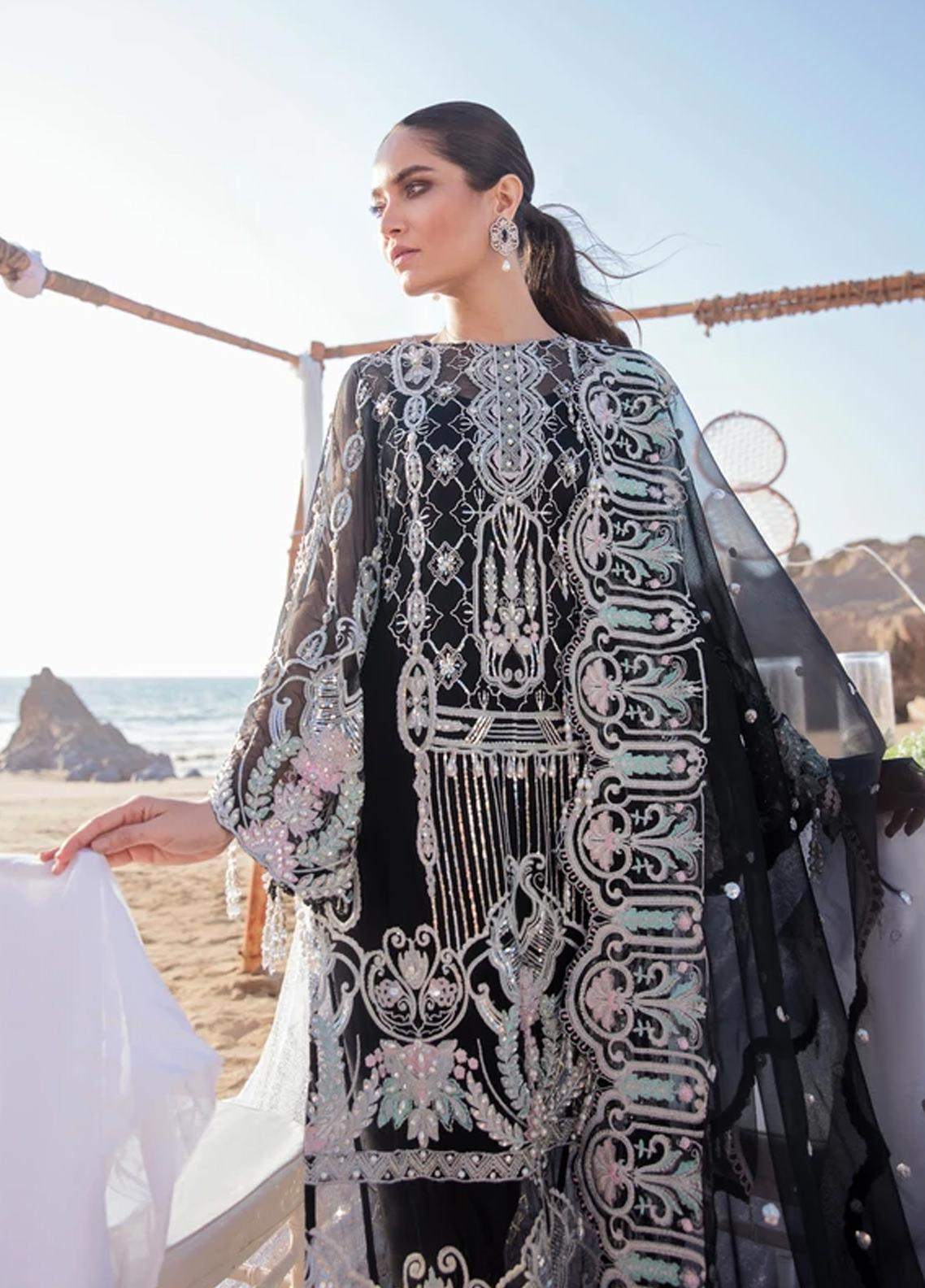 Amiraa by Reign Embroidered Net Suits Unstitched 3 Piece RGN21AM RN-10 IDEH-B - Luxury Collection