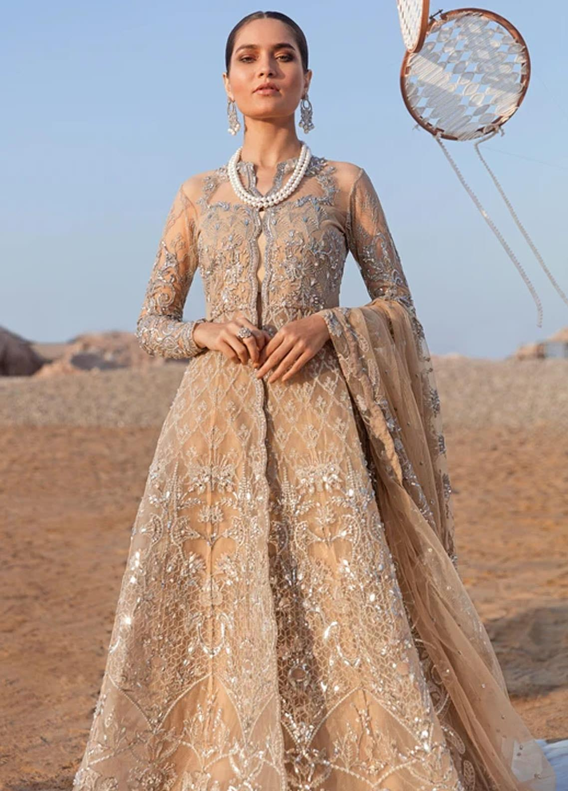Amiraa by Reign Embroidered Net Suits Unstitched 3 Piece RGN21AM RN-13 IBIZIAH-A - Luxury Collection