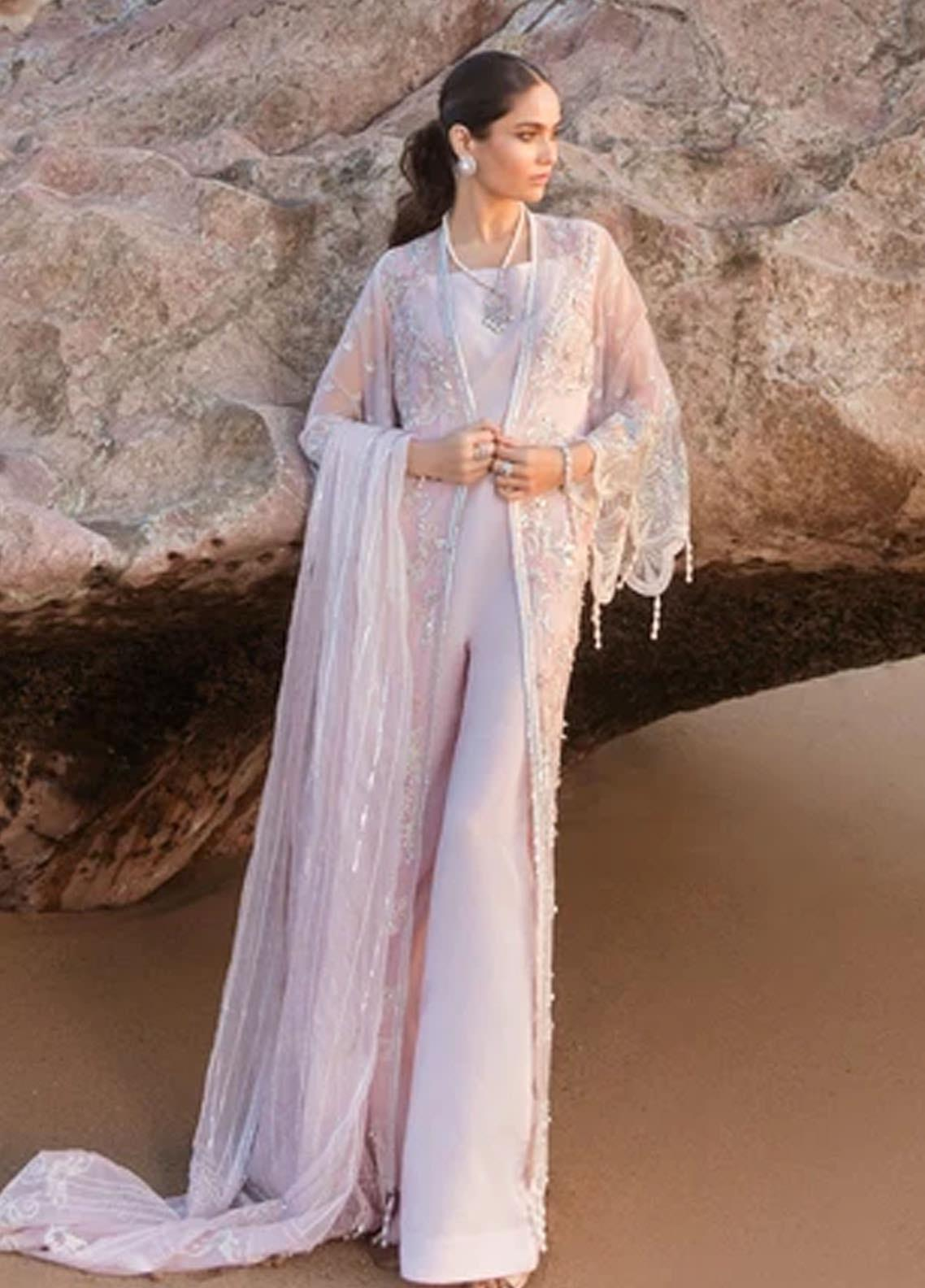 Amiraa by Reign Embroidered Net Suits Unstitched 3 Piece RGN21AM RN-15 LEON-A - Luxury Collection