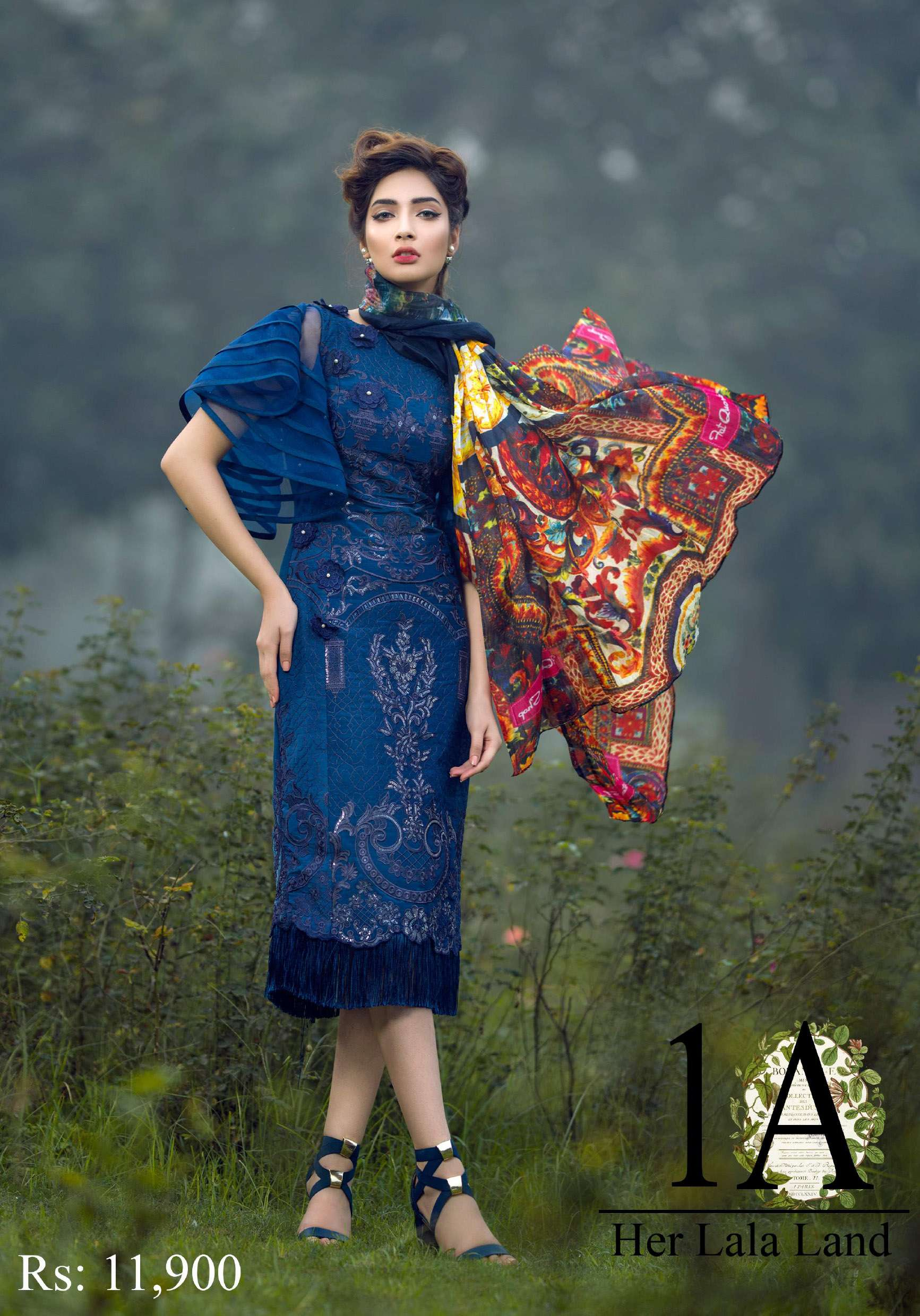 Asifa & Nabeel Embroidered Raw Silk Unstitched 3 Piece Suit AN17C 01