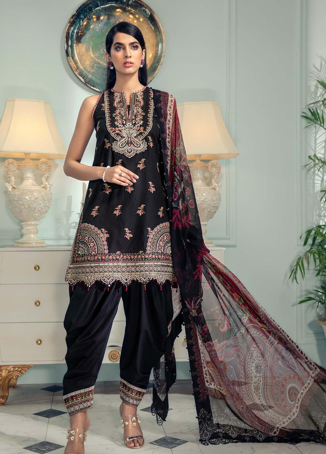 Anaya By Kiran Chaudhry Embroidered Jacquard Suits Unstitched 3 Piece AK21LL AL21-04-B GIGI - Summer Collection