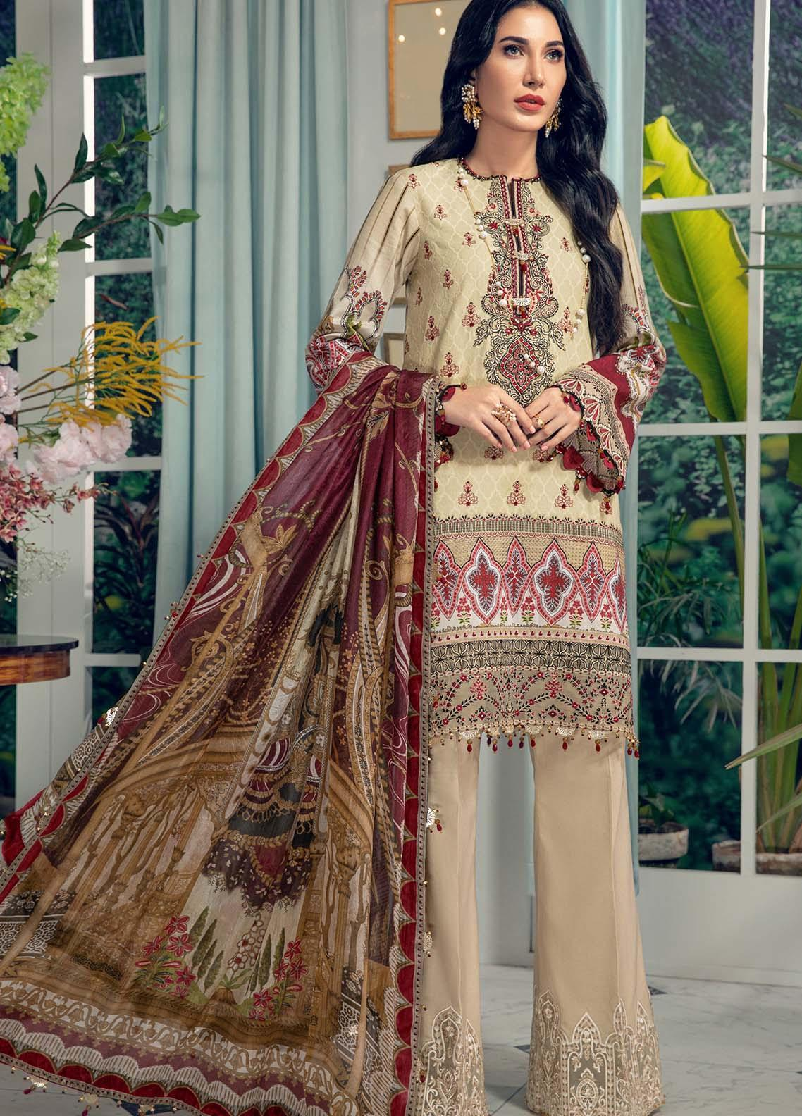 Anaya By Kiran Chaudhry Embroidered Jacquard Suits Unstitched 3 Piece AK21LL AL21-06-B ADRIANA - Summer Collection