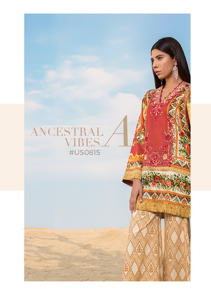 Sapphire Embroidered Cotton Unstitched 3 Piece Suit SP17W Ancestral Vibes A