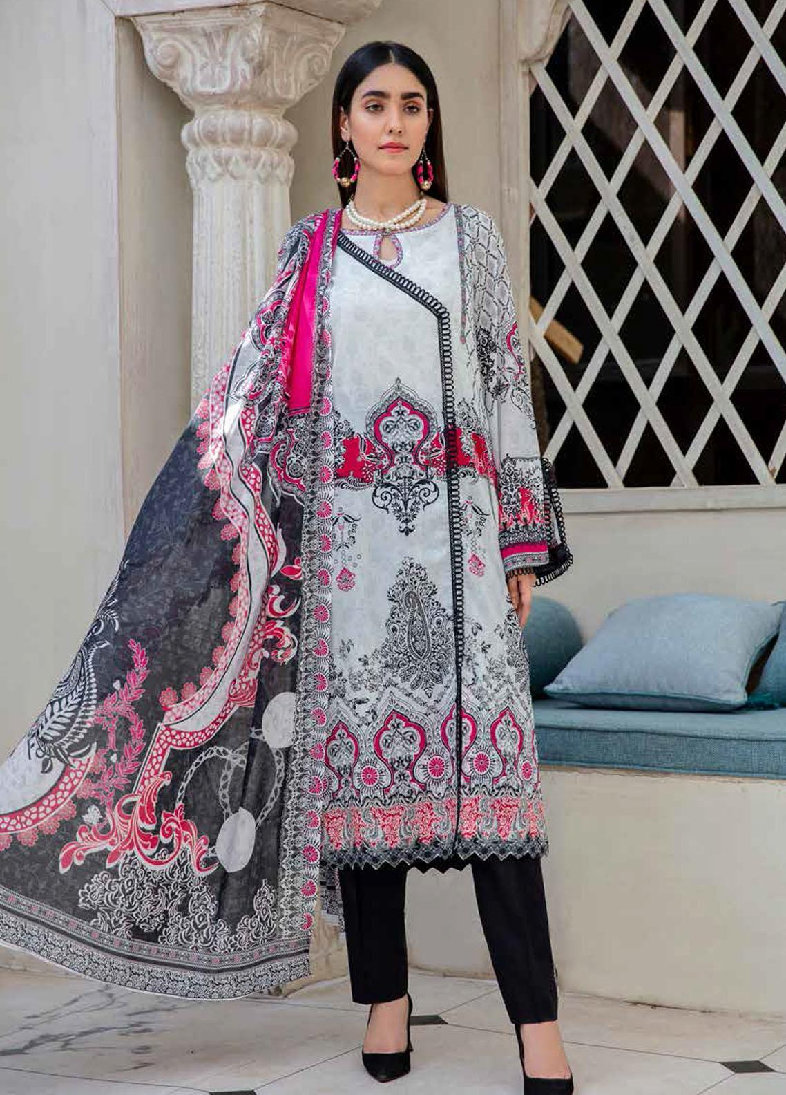 Angan By Banafsheh Printed Lawn Suits Unstitched 3 Piece BF21A 05 - Summer Collection