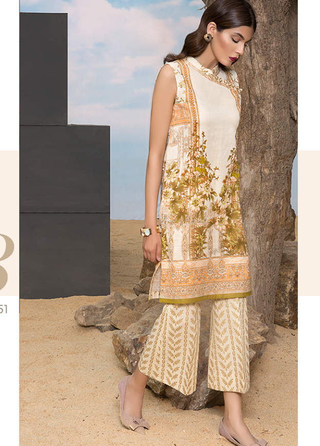 Sapphire Embroidered Khaddar Unstitched 2 Piece Suit SP17W Angelic Delight B