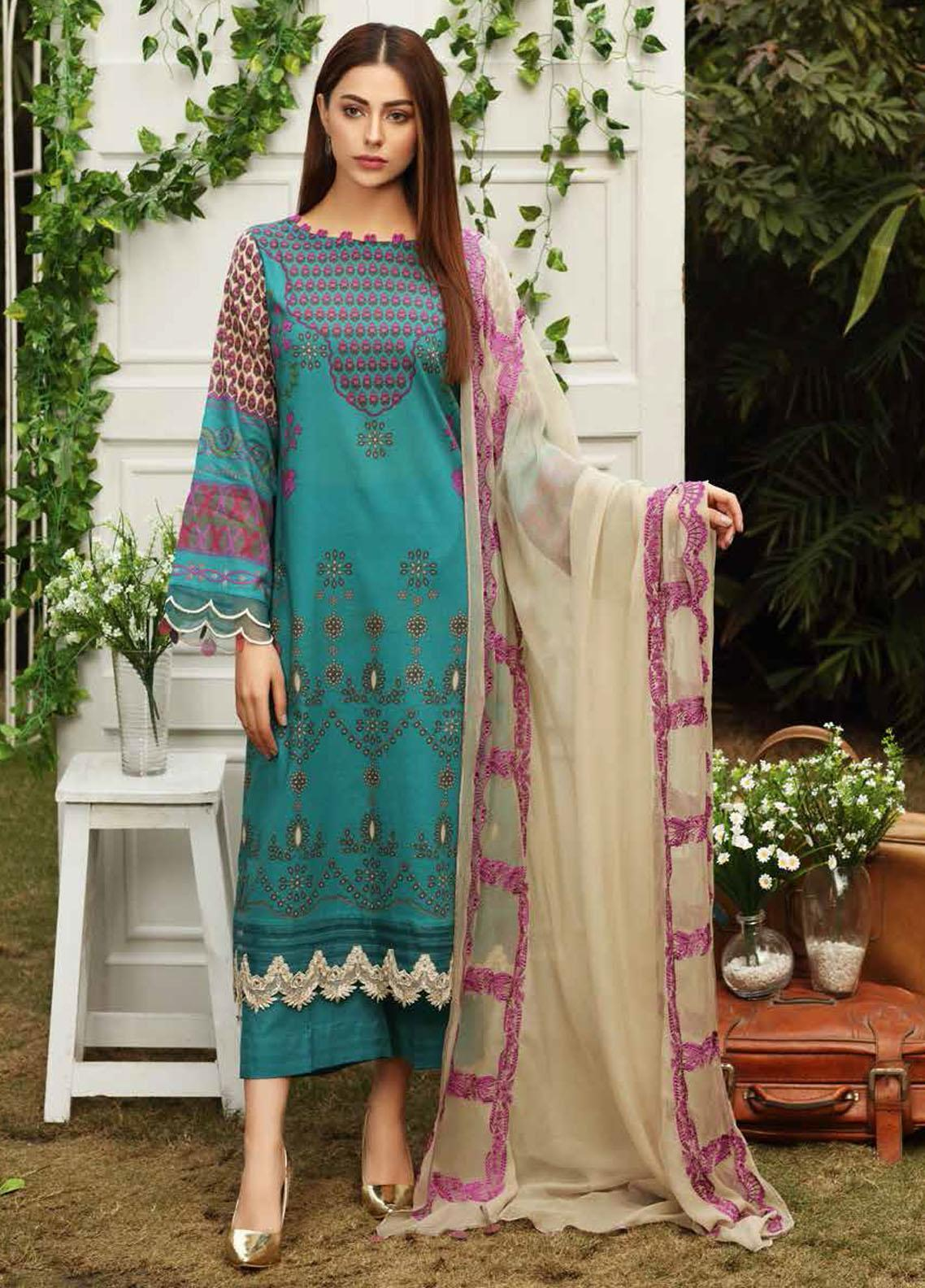 Aniq by Charizma Embroidered Lawn Suits Unstitched 3 Piece CRZ21A 01 - Summer Collection