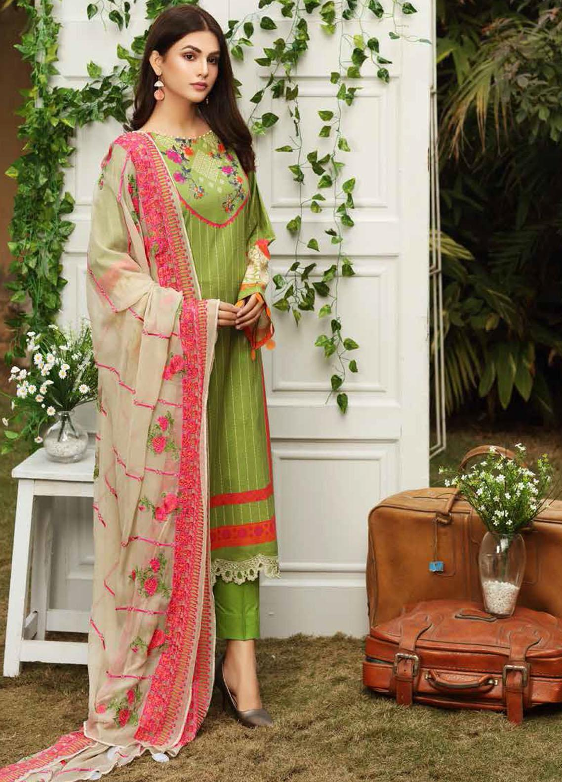 Aniq by Charizma Embroidered Lawn Suits Unstitched 3 Piece CRZ21A 03 - Summer Collection