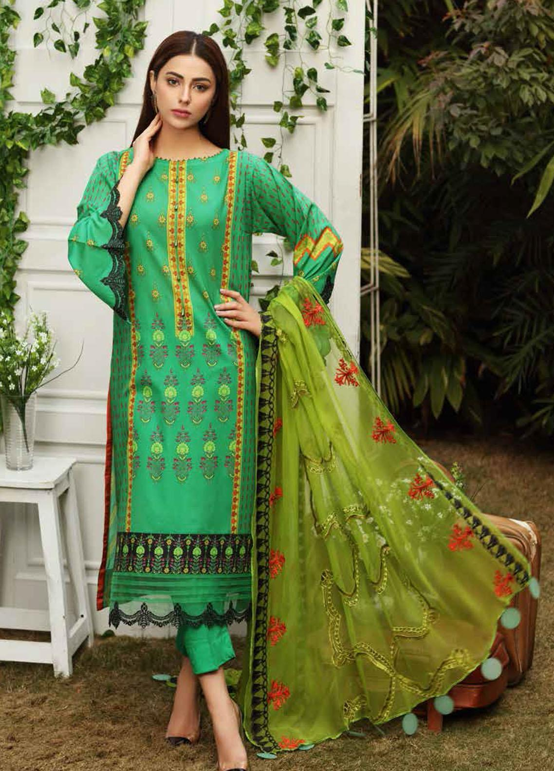 Aniq by Charizma Embroidered Lawn Suits Unstitched 3 Piece CRZ21A 08 - Summer Collection