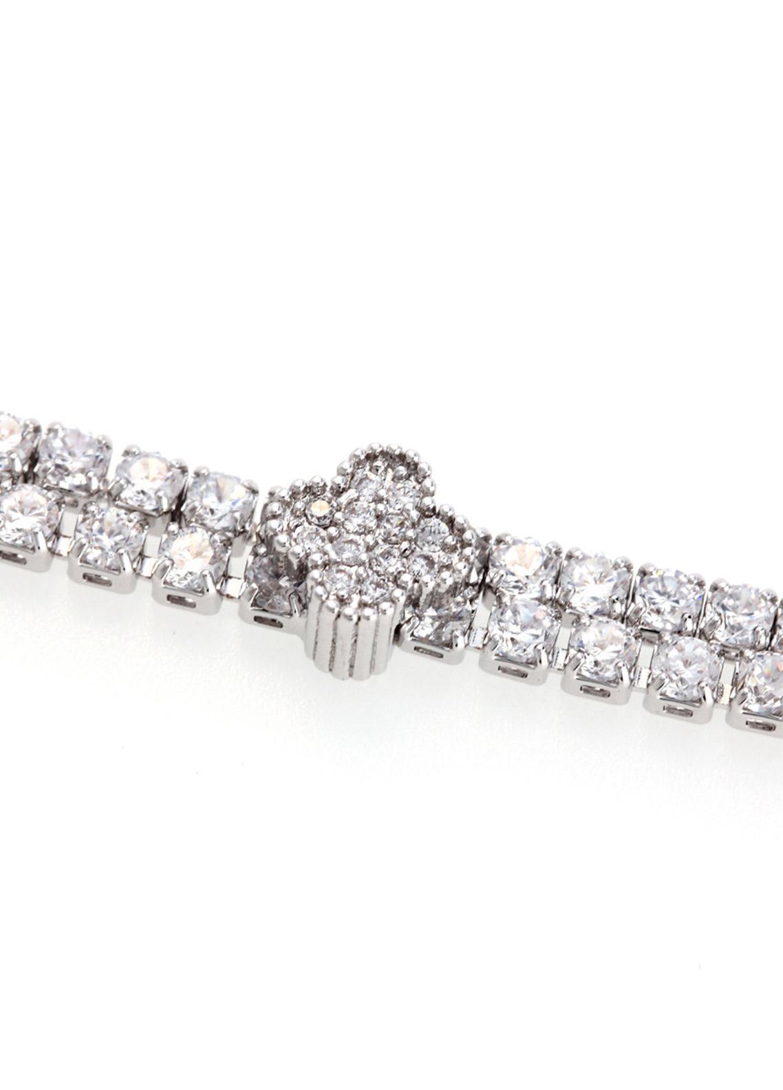 Anna Grace London Silver Crystal Sparkling Bracelet AGB0062 - Ladies Jewellery
