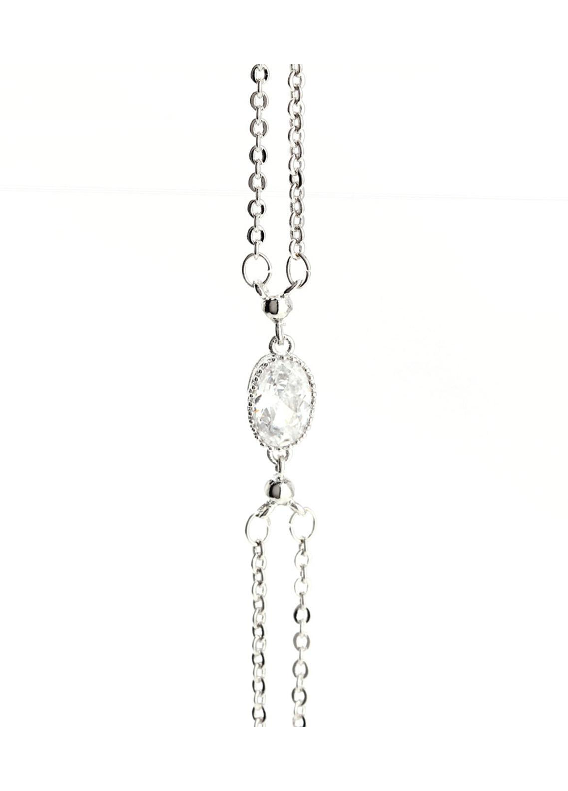Anna Grace London Silver Crystal Plated Fashion Bracelet AGB0070 - Ladies Jewellery