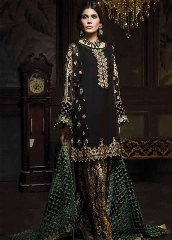 Aayra Embroidered Chiffon Unstitched 3 Piece Suit AR18C 05