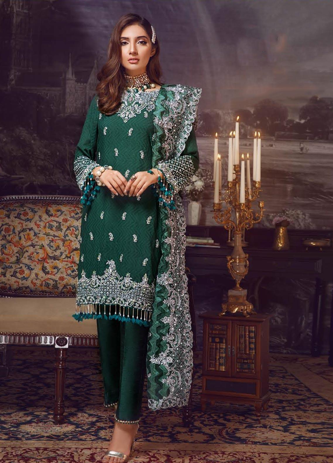 Areej By A-Meenah Embroidered Cotton Unstitched 3 Piece Suit AME19C 03 Sundas - Luxury Collection