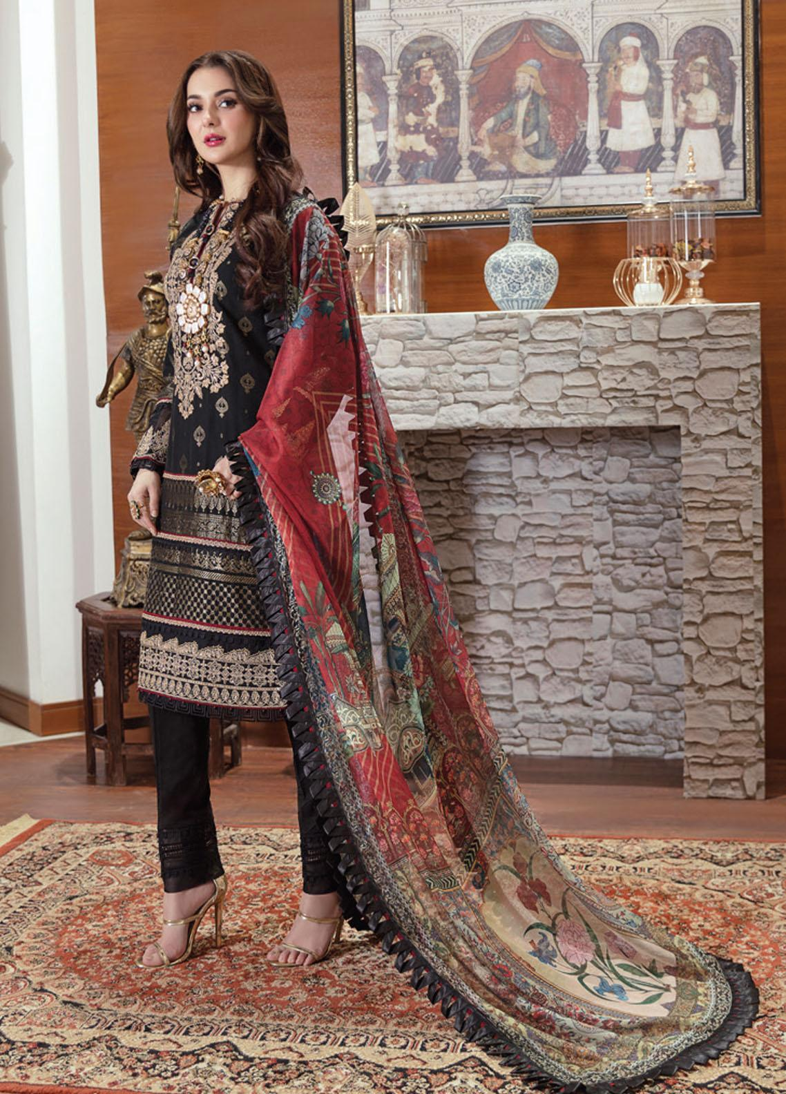 Rabt By Asim Jofa Embroidered Lawn Suits Unstitched 3 Piece AJ21RL 10 - Luxury Collection