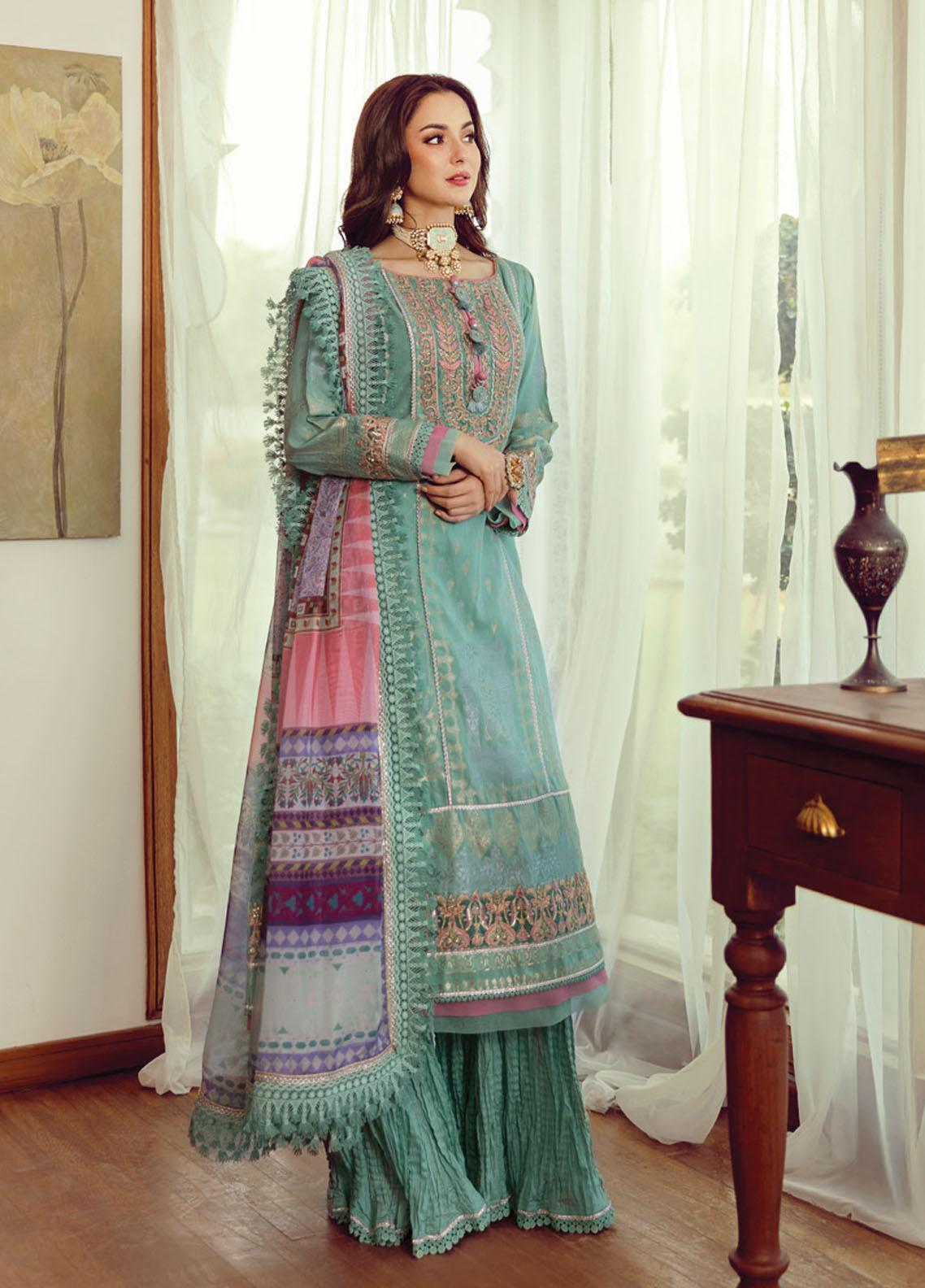 Rabt By Asim Jofa Embroidered Lawn Suits Unstitched 3 Piece AJ21RL 11 - Luxury Collection
