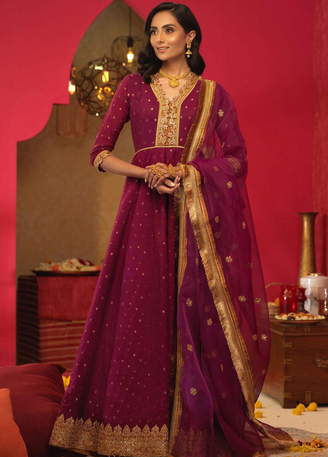 Asim Jofa Embroidered Cotton Suits Unstitched 3 Piece AJ21RF AJFC-30 - Festive Collection