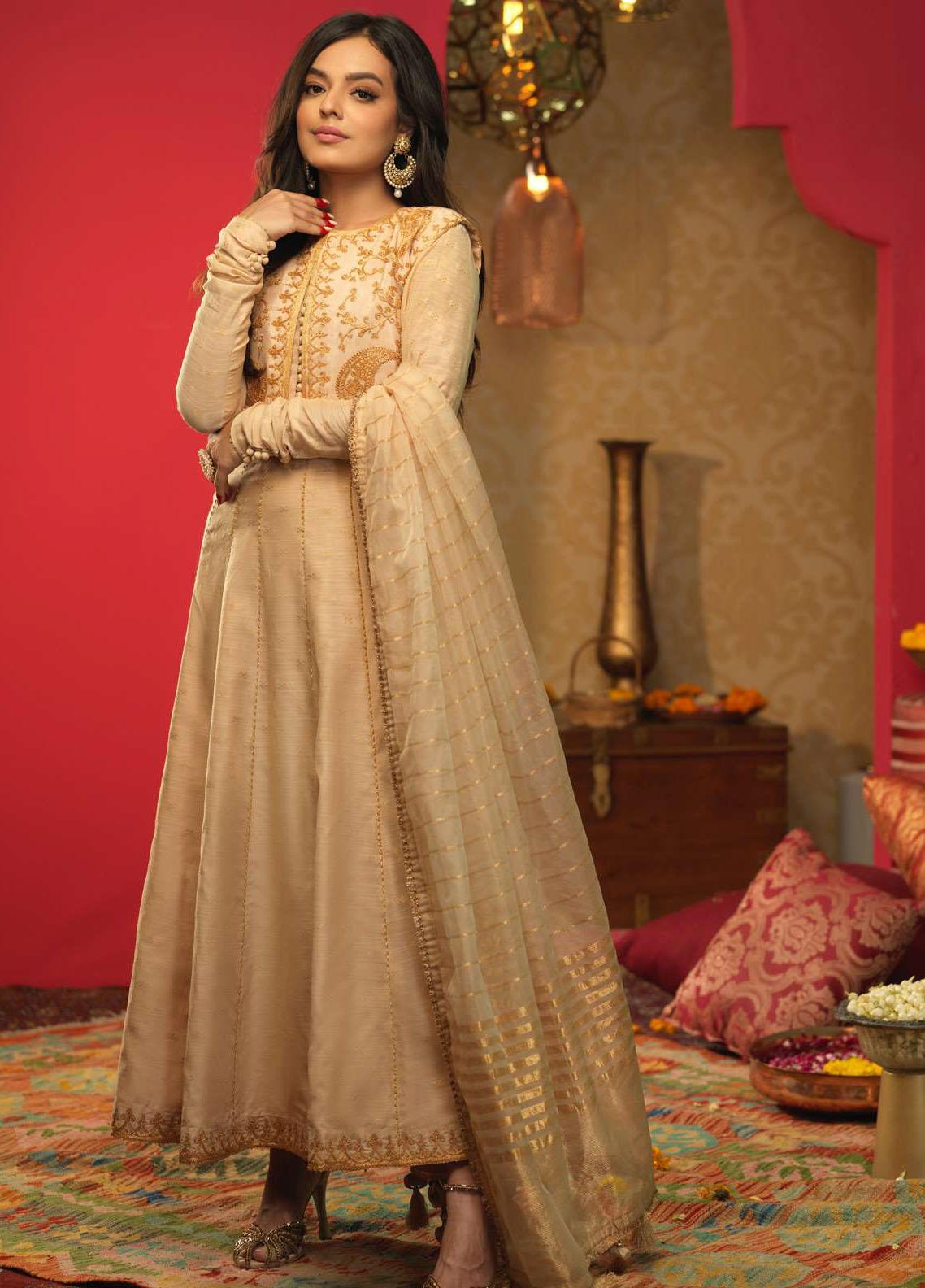 Asim Jofa Embroidered Cotton Suits Unstitched 3 Piece AJ21RF AJFC-37 - Festive Collection