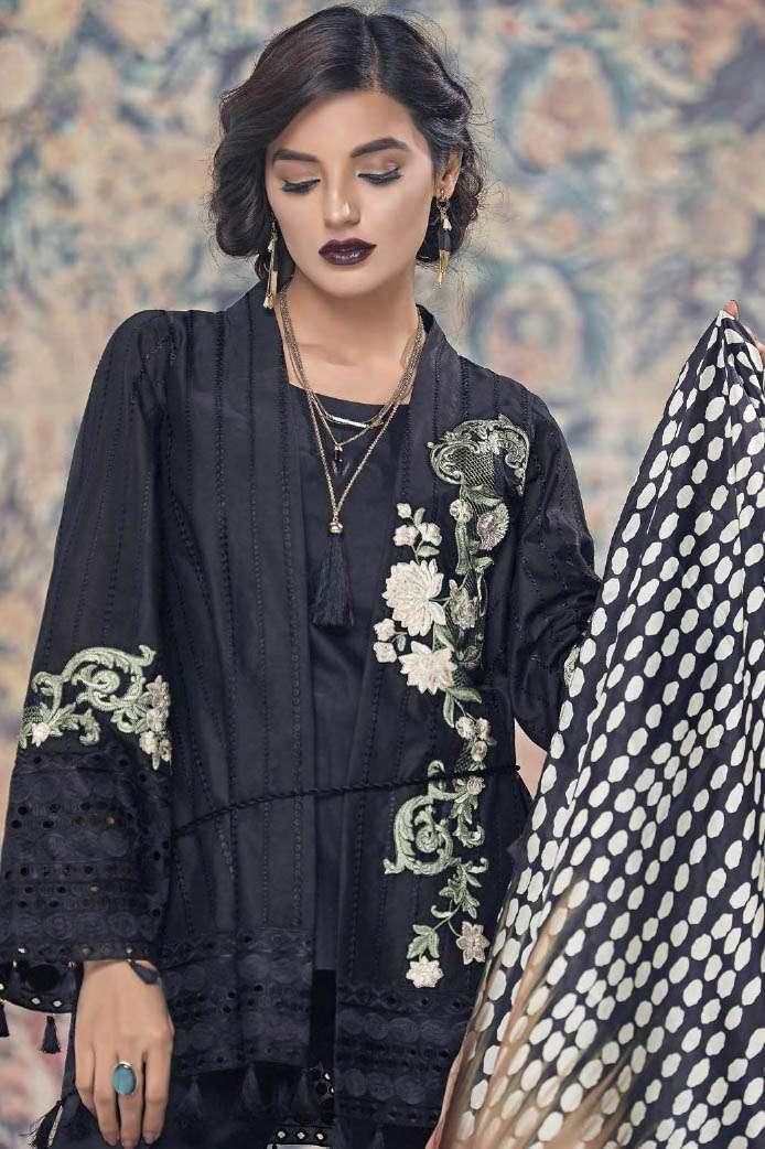 AUJ Embroidered Lawn Unstitched 3 Piece Suit AUJ17L 3A