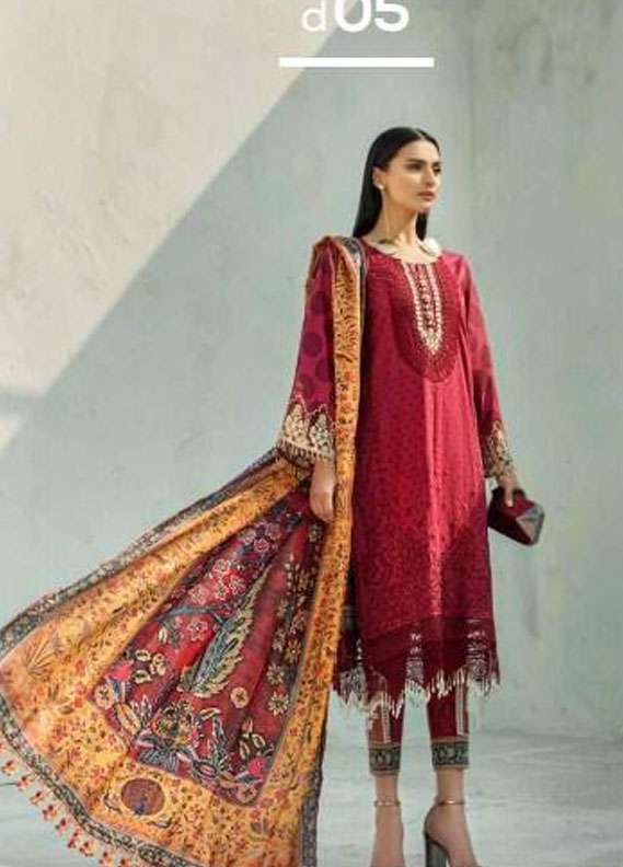 AUJ Embroidered Lawn Unstitched 3 Piece Suit AUJ18L 05 - Spring / Summer Collection