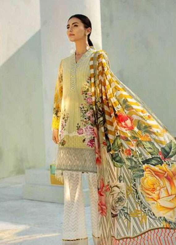 AUJ Embroidered Lawn Unstitched 3 Piece Suit AUJ18L 11 - Spring / Summer Collection