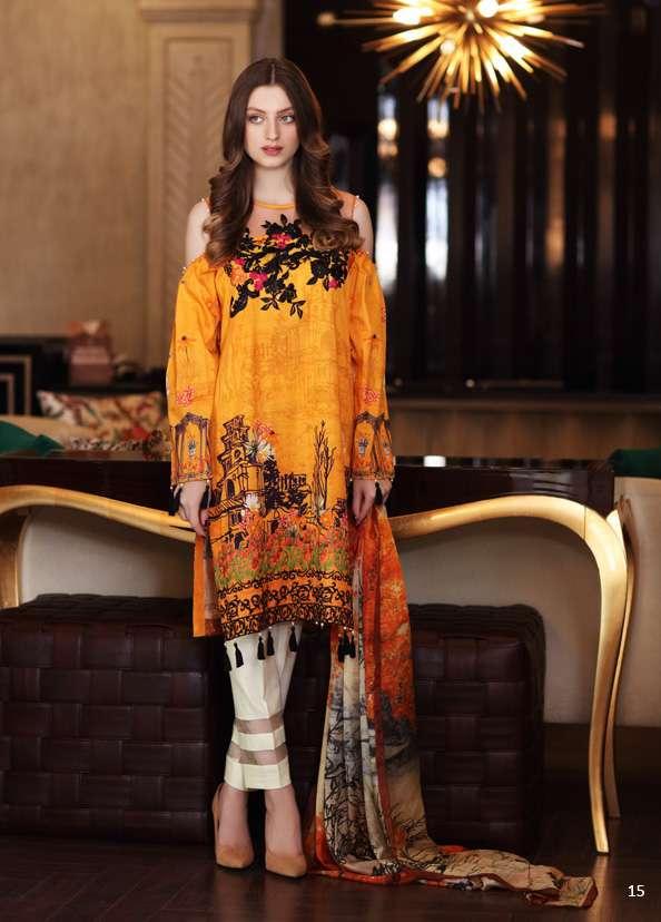 Al Zohaib Embroidered Lawn Unstitched 3 Piece Suit AZ17S 03