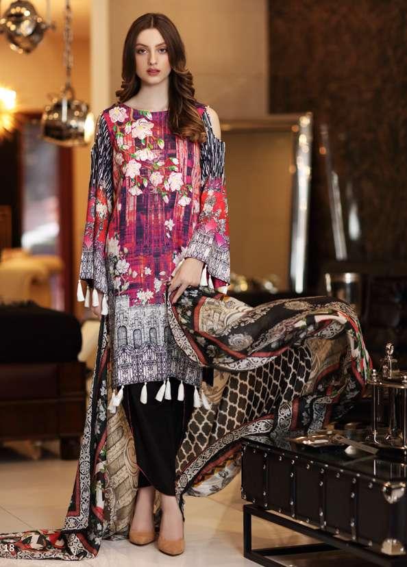 Al Zohaib Embroidered Lawn Unstitched 3 Piece Suit AZ17S 04