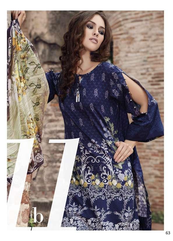 Al Zohaib Printed Lawn Unstitched 3 Piece Suit AZ17S 11B