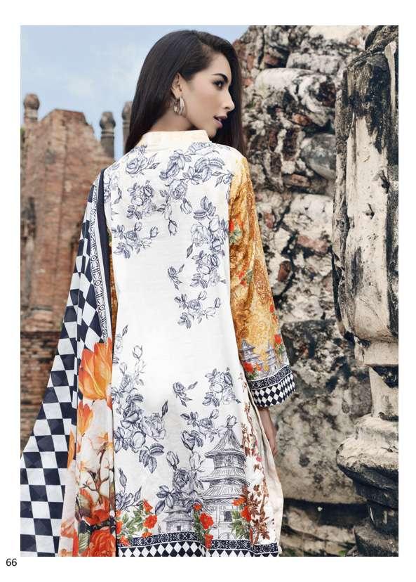 Al Zohaib Printed Digital Cotton Unstitched 3 Piece Suit AZ17S 12A