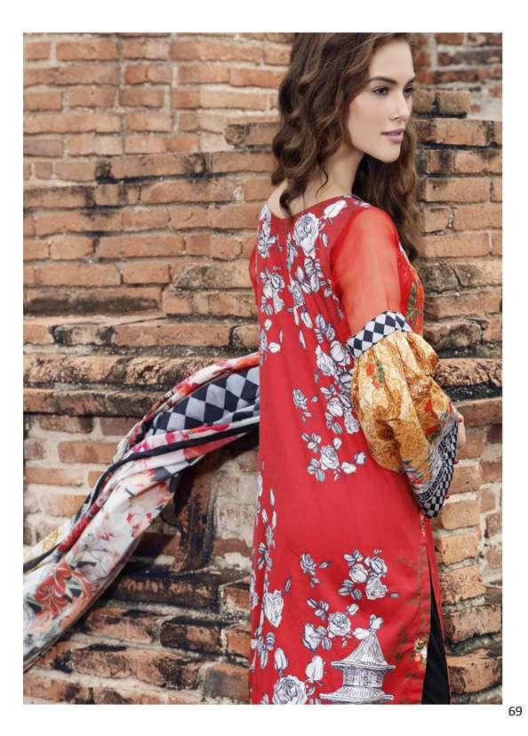 Al Zohaib Printed Lawn Unstitched 3 Piece Suit AZ17S 12B