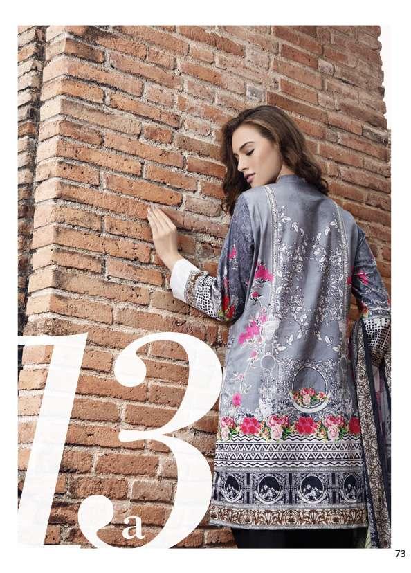 Al Zohaib Printed Lawn Unstitched 3 Piece Suit AZ17S 13A