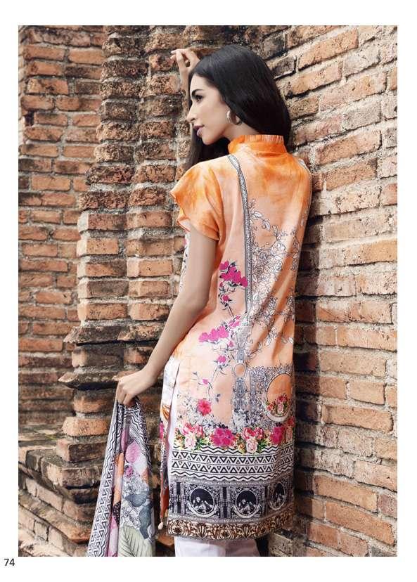 Al Zohaib Printed Lawn Unstitched 3 Piece Suit AZ17S 13B
