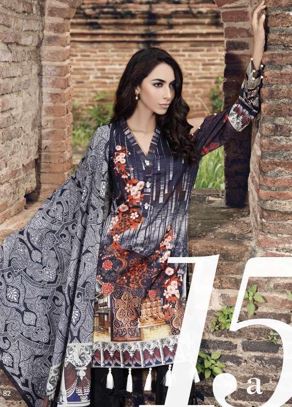 Al Zohaib Printed Lawn Unstitched 3 Piece Suit AZ17S 15A