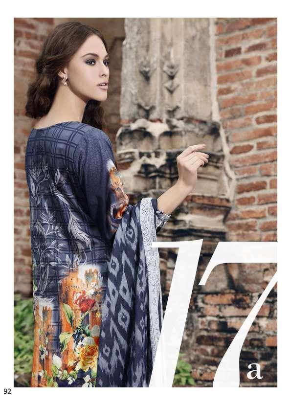 Al Zohaib Printed Lawn Unstitched 3 Piece Suit AZ17S 17A