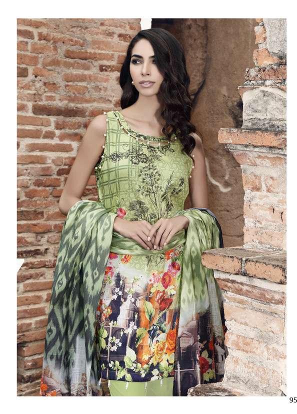 Al Zohaib Printed Lawn Unstitched 3 Piece Suit AZ17S 17B