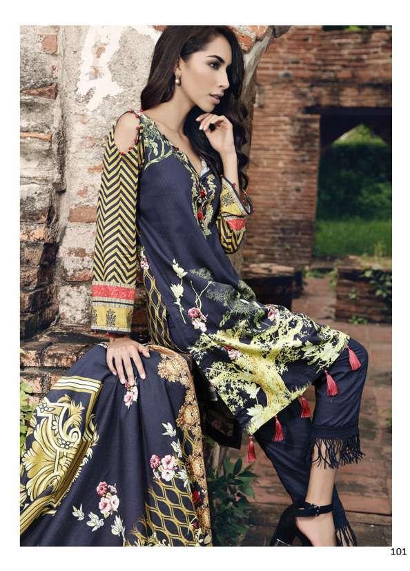 Al Zohaib Printed Lawn Unstitched 3 Piece Suit AZ17S 19