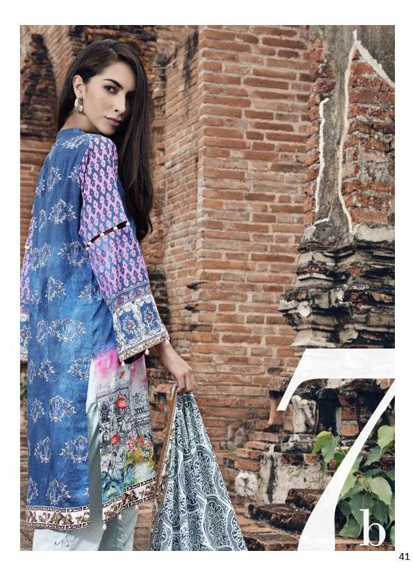 Al Zohaib Printed Lawn Unstitched 3 Piece Suit AZ17S 7B