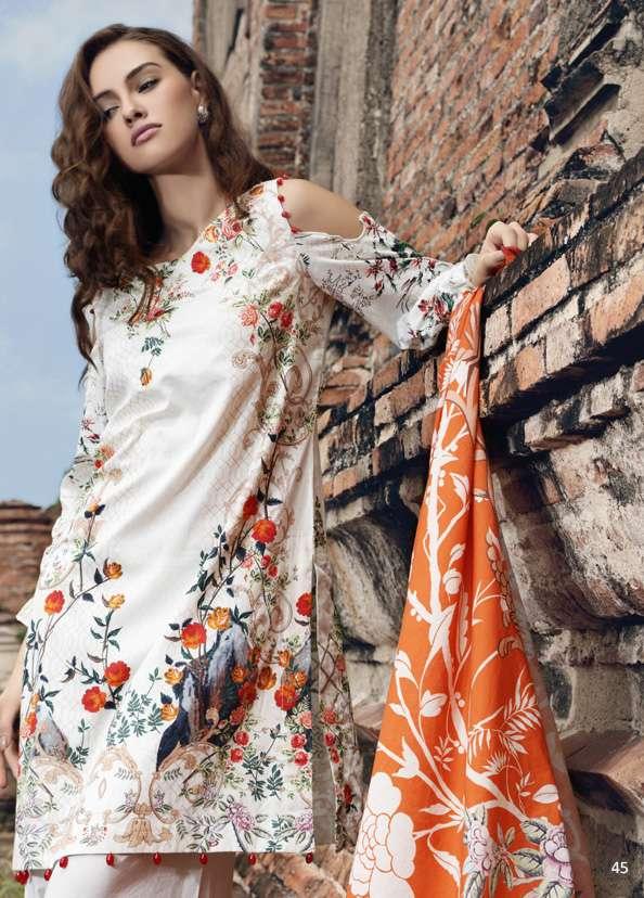Al Zohaib Printed Digital Cotton Unstitched 3 Piece Suit AZ17S 8A
